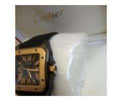 Relógio marca Cartier modelo 100 anos PVD