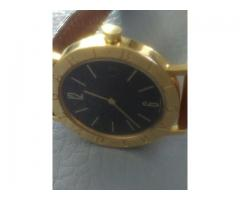 Relógio marca Byugari caixa de ouro amarelo social