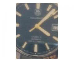 Relógio  marca  TAG Heur modelo calibre 16 aço