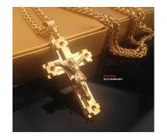 Cordão Ouro 18k Com Crucifixo De Jesus Cristo
